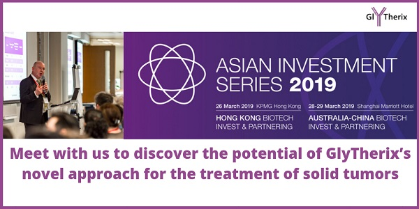 GlyTherix is a presenter at Ausbiotech Asian series